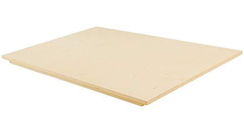 Vetrineinrete Spianatoia in Legno per impastare stendere Tavola Multistrato con Bordo Antiscivolo Tagliere Pasta Pizza Cucina 60 x 100 cm 9045 P36