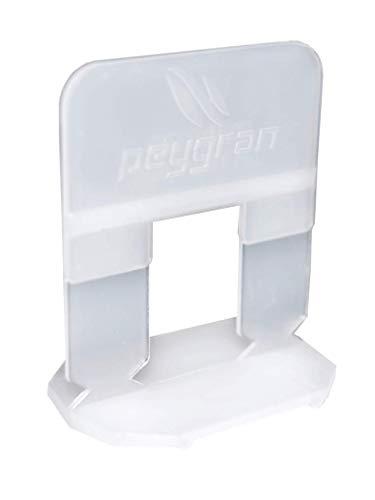 """peygran azulejos de nivelación sistema 1/32""""(1mm): 300Clips. lippage libre para azulejos y piedra instalación para Pro y DIY. La más preciso y fiable producto en el mercado."""