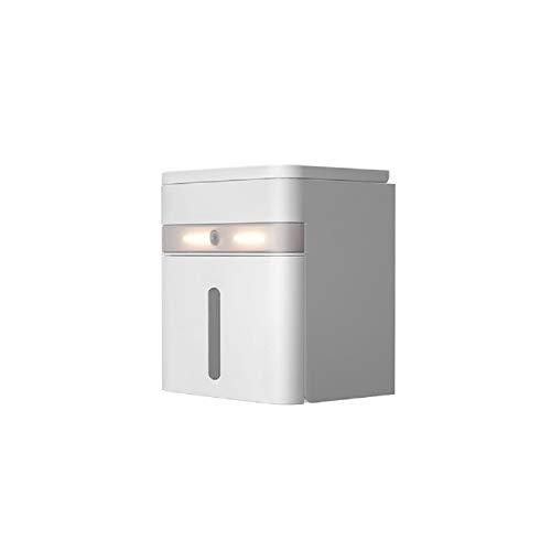 LED-Toilettenpapierhalter, Smart-Sensor, multifunktionaler Toilettenpapierhalter, wasserdicht, mit LED-Smart-Sensor-Licht, nagelfreie Installation, ideal für Zuhause, Hotel und andere Dekoration
