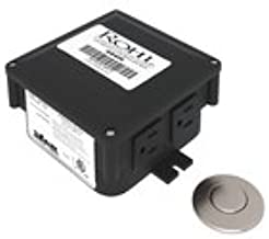 Rohl Allia Air Activated Switch Button with Control Box for Waste Disposal in Satin Nickel