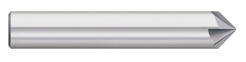 Titan TC87759 Solid Carbide Chamfer Mill, 4 Flute, Single End, 100 Degree Angle, Uncoated, 1/4' Size, 1/4' Shank Diameter, 2-1/2' Overall Length