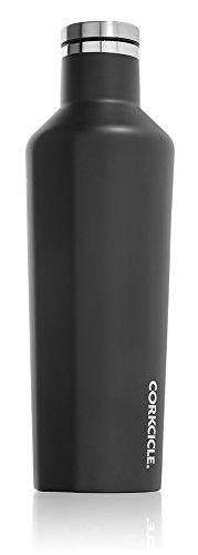 Corkcicle Gloss Botella isotérmica, Acero Inoxidable, Matte Black, 47 cl