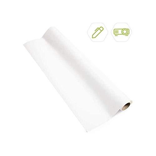 Smart Projektor Whiteboard Folie selbstklebend 10m² Weiß - Beamer Folie - beschreibbare Folie