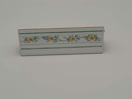 Listello Greca Decoro In Ceramica Made in Italy cm 6,5 x 20 Spessore mm 8 - N 5 Pz