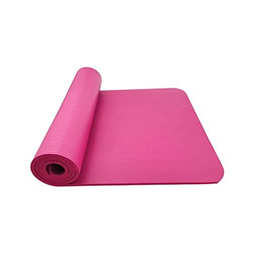 ZZRTEC Esterilla De Yoga,TPE Esterilla Deporte Antideslizante Y Alfombra Fitness, Adecuada para Yoga, Pilates, Gimnasia Y AeróBic (183 × 61 × 1,0 Cm) Pink