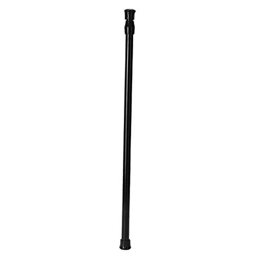 needlid Barra de cortina, barra telescópica antideslizante negra, duradera para apagón (55-90 diámetro 1,3 cm de largo)