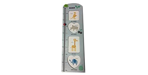 Medidor de altura. Tabla de crecimiento para colgar en la pared, con portafotos para niños y niñas, decoración de la habitación infantil.Desde 70 cm hasta 160 cm Dakota. 1 unidad (Azul)