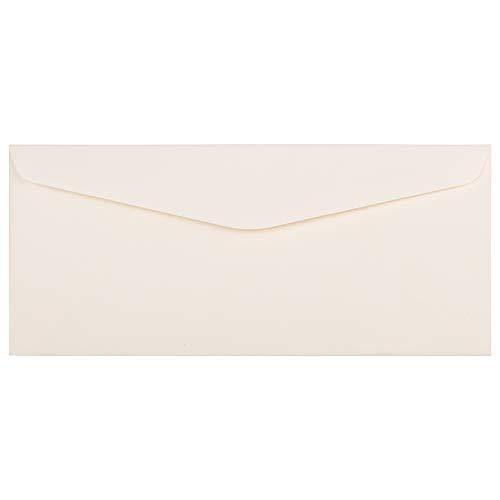 JAM PAPER #10 Business Strathmore Envelopes - 4 1/8 x 9 1/2 - Natural White Linen - 25/Pack