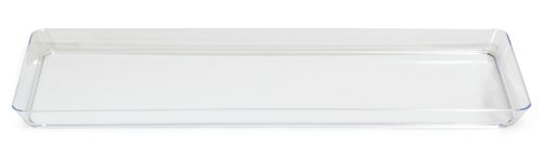 Creative Converting 15.5-Inch Rectangle Plastic Serving Tray, Clear
