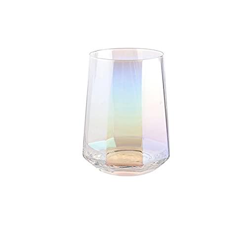 Vidrio vidrio agua vidrio jugo de vidrio geométrico octagonal vino vidrio creativo diamante vidrio vidrio vidrio vidrio vidrio vidrio taza de café taza de vidrio vidrio vidrio ( Color : Colorful )