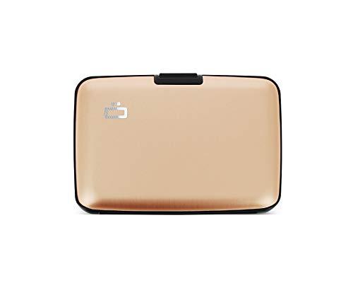 ÖGON Smart - Porta Carte Stockholm - Protezione RFID: Protegge Le Tue Carte Contro Le Frodi - Alluminio Anodizzato (oro rosa)