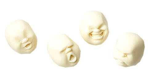 Oulensy 4pcs Set Humano del respiradero de la Cara de la Bola de la Bola antiestrés de diseño japonés Cao Maru Caomaru Blanca Regalo Divertido del Juguete de la descompresión