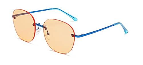 WANGZX Gafas De Sol Cuadradas Gafas De Sol Sin Marco De Diseñador Único para Mujer Fotografía De Calle para Hombre Accesorios De Moda Uv400 Blueorange