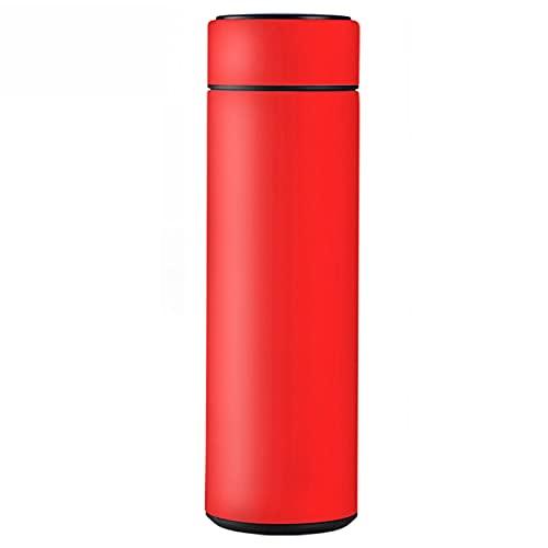 MJJCY Termos de Acero Inoxidable Inteligente Taza de Botella Taza de Temperatura Emplinadores de vacío Taza de Viaje Taza de café Thermos Botella de Agua (Capacity : 480ML, Color : Fahrenheit Red)