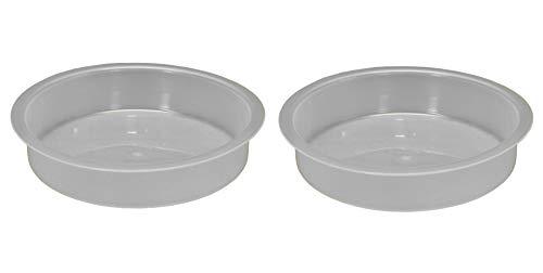 Plastic Round Bird Bath Bowl for Bird Feeding Stations (Set of 2)