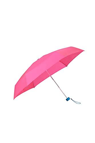 Samsonite Minipli Colori S - Ombrello pieghevole Manuale (5 sezioni), Diametro: 87 cm, Rosa (Ruby Pink/Caribbean Blue)