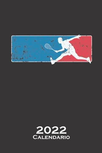 Jugador de squash con raqueta de tenis Calendario 2022: Calendario anual para Los aficionados a este deporte similar al tenis