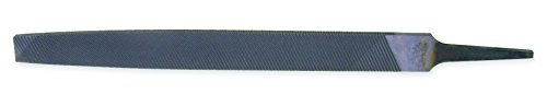 Nicholson Flat Hand File for Aluminum, American Pattern, Double Cut, Rectangular, Fine, 10' Length