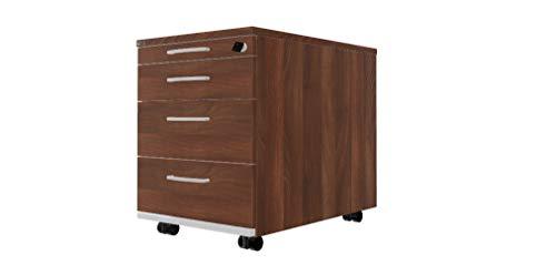 ASSMANN Pontis Rollcontainer (BxTxH) 41,5cm x 60cm x 53,3cm, abschließbar, nussbaum