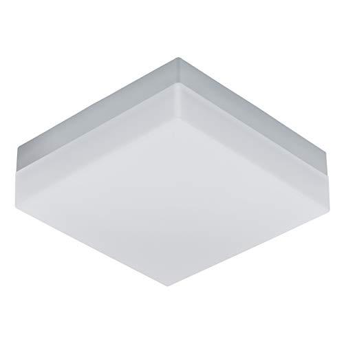 EGLO LED Außen-Deckenlampe Sonella, 1 flammige Außenleuchte für Wand und Decke, Deckenleuchte aus Kunststoff, Farbe: Weiß, IP44