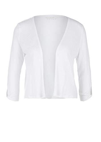 s.Oliver Damen 3/4 Arm T-Shirt, 0100 White, 44