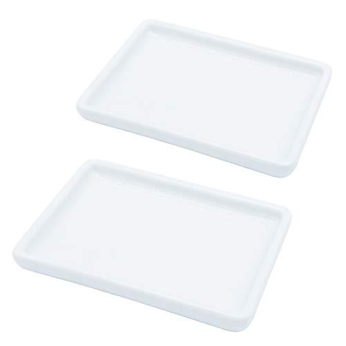 lofekea Ceramic Soap Dish for Shower 2 Pack Bar Soap Holder Palette for Watercolors Soap Try