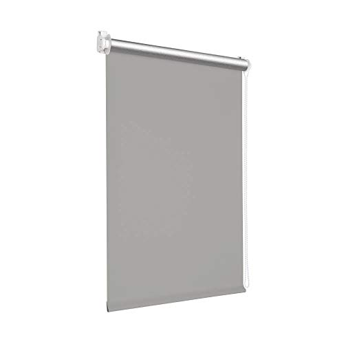 Victoria M. Tenebra Verdunkelungsrollo Thermorollo Rollo ohne Bohren für Fenster und Türen, 130 x 160 cm, grau