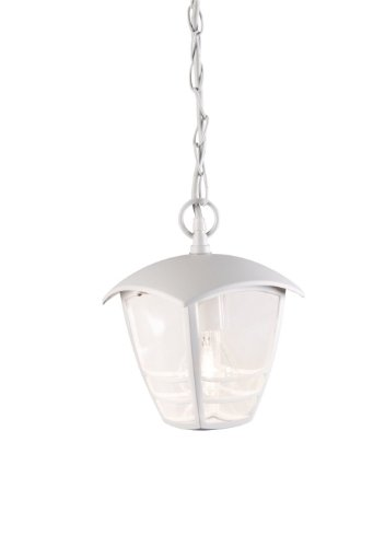 Massieve 153863110 outdoor verlichting voor buiten, wit, E27, buitenverlichting (outdoor ophanging, wit, kunststof, IP20, tuin, transparant)
