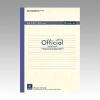 オフィシャルエコ 再生紙ノート 糸綴じ A4 B罫(6mm) 1B4FE