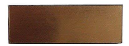 無地名札 メタル(金属調)ブランクプレトー.ゴールド、メタリック、無地ネームプレート (ゴールド)金色 (20×60ミリ) 名札無地