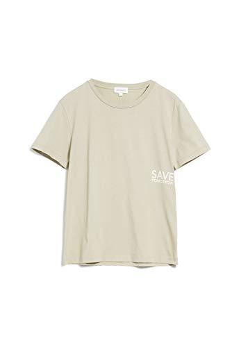 ARMEDANGELS MARAA Save Tomorrow - Damen T-Shirt aus Bio-Baumwolle M Birch Leaf Shirts T-Shirt Rundhals Regular fit