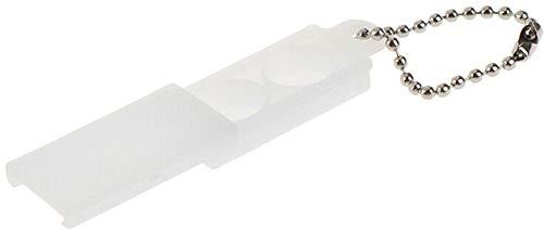 EWANTO Schlüsselanhänger für 2 Hörgerätebatterien (10, 13, 312, 675), Kunststoff Batteriebox für zwei Knopfzellen bis 12 mm x 6 mm (Ø x H)