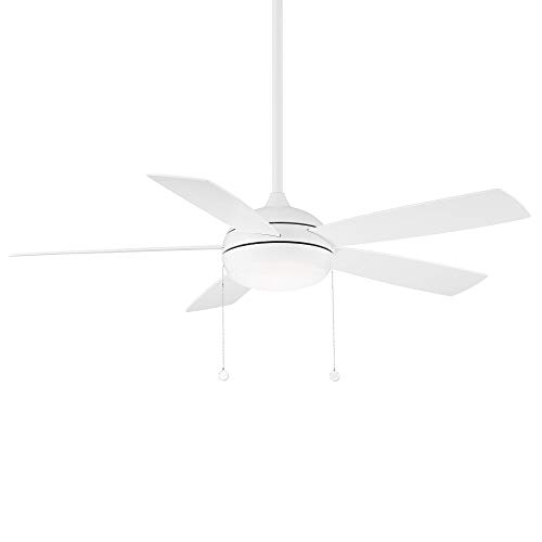 WAC Lighting F-002L-MW Disc Indoor Ceiling Fan with Pull Chain Control, 52in Blade Span, Matte White