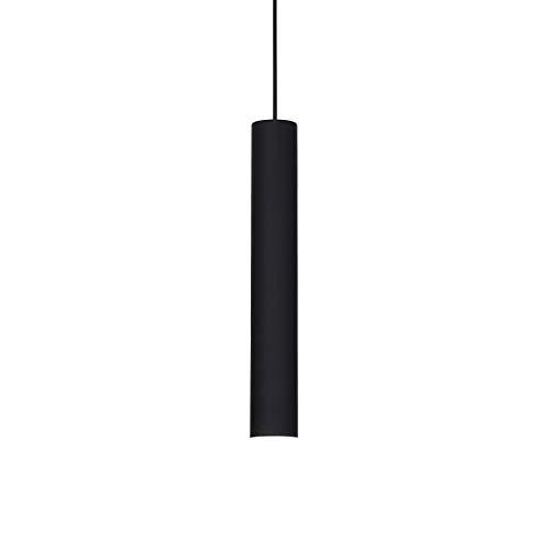 lampadario sospensione cucina cilindro metallo nero moderno lampadina gu10 led