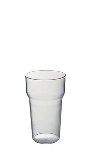Set van 6 Roltex Onbreekbare Herbruikbare Polycarbonaat Plastic Tulp Vormige Stapelen Half Pint glazen