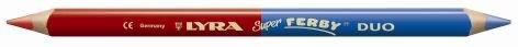 Farbstift Duo Super Ferby zweifarbige Mine rot-blau dreikant Mine 6,3mm D - Liefermenge 12 Stück