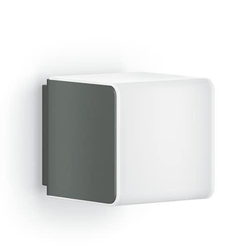 Steinel Lámpara exterior L 830 C, color antracita, lámpara de pared LED, sin sensor, conectable mediante aplicación Bluetooth, 9,1 W, blanco cálido