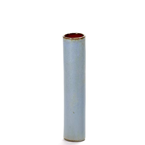 Serax - Vase - Rohr Anita - Smokey Blue, blau - D 4,5 H 20,5 cm