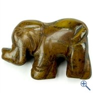 Tigerauge Elefant Edelstein Anhnger Einhnger Schmuck Kette Kraftstein Krafttier Glcksbringer Feng Shui Liebe Wohlstand Partnerschaft Geschenk A++ Qualitt