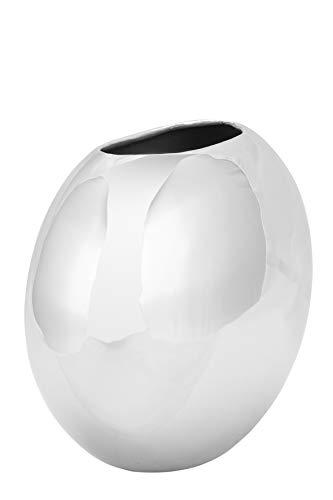 Fink- Luna - Vase - Edelstahl/vernickelt - (LxBxH) 23 x 11,5 x 20cm