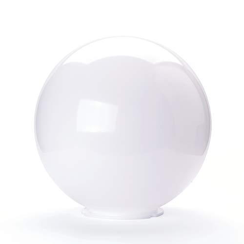 Kugel Ersatzglas Kunststoff Lampenschirm f. Außenleuchten Ø250-300mm Kragen (Ø250mm)