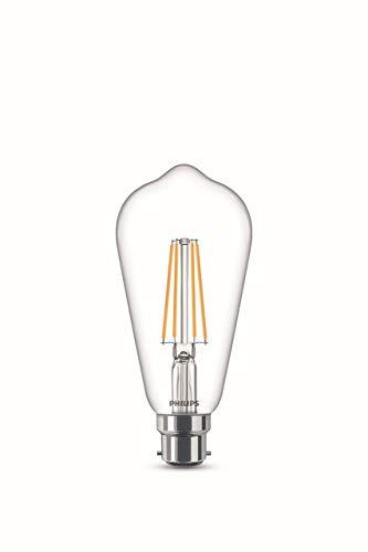Philips Lampadina LED Edison Filamento, Equivalente a 60W, Attacco B22, Luce Bianca Calda, non Dimmerabile