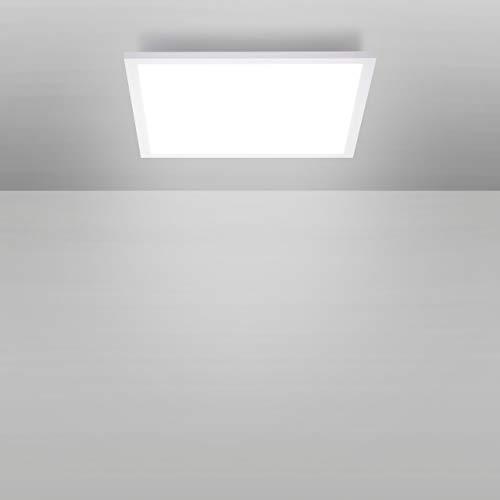 LED Panel 30x30, LED Decken-Lampe, weiß | Decken-Leuchte neutralweiss - tageslichtweiß - 4000 Kelvin, für Büro, Wohnzimmer, Küche und Bad [Energieklasse A+]