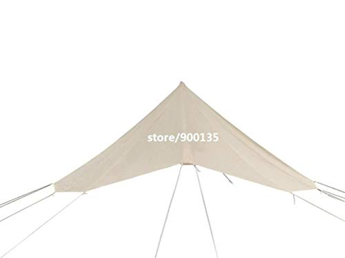 ZWQ Outdoor 4M Cotton Canvas Bell Tent With Stove Hole For 3-5 Persons,4m roof tarp