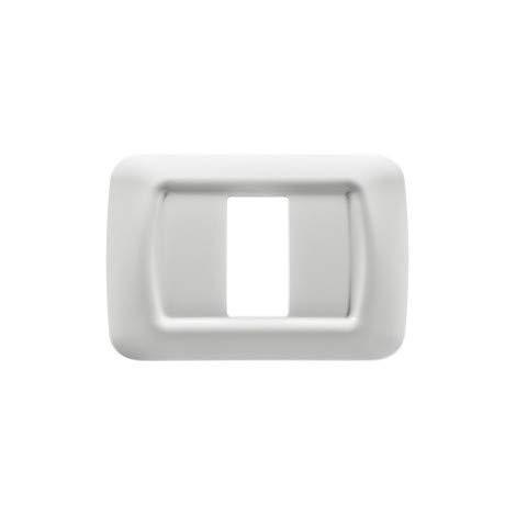 Gewiss Placca Top System In Tecnopolimero Finitura Lucida Bianco Nuvola (GW22501-1 Modulo)