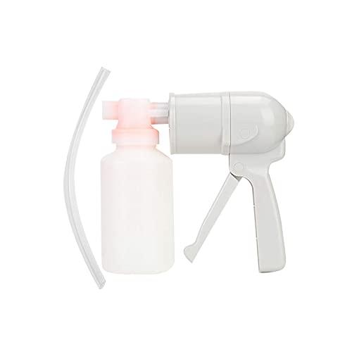 OMVOVSO Dispositivo de Bomba de succión de moco, Dispositivo de succión de Primeros Auxilios respiratorio en el hogar, Dispositivo de Bomba de succión de moco Manual,Blanco