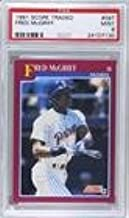 Fred McGriff PSA GRADED 9 (Baseball Card) 1991 Score Rookie & Traded - Box Set [Base] #58T