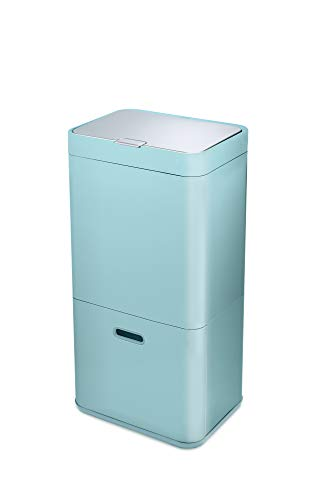 Joseph Joseph Totem Waste Separation and Recycling Unit, Blue/Grey, 60 Litre