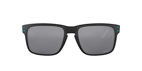Oakley Herren Holbrook Sonnenbrille, Mattschwarz/Prizm Schwarz Polarisiert, 55 mm