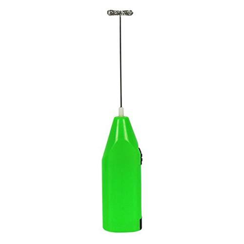 Mini no fácil de oxidar batidor eléctrico de mano con espuma de leche, mezclador de cocina, batidor de huevos de café, herramientas de licuadora (color: verde)